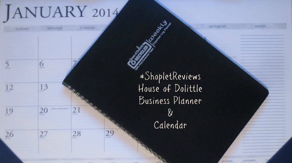 #ShopletReviews House of Dolittle Business Planner and Calendar