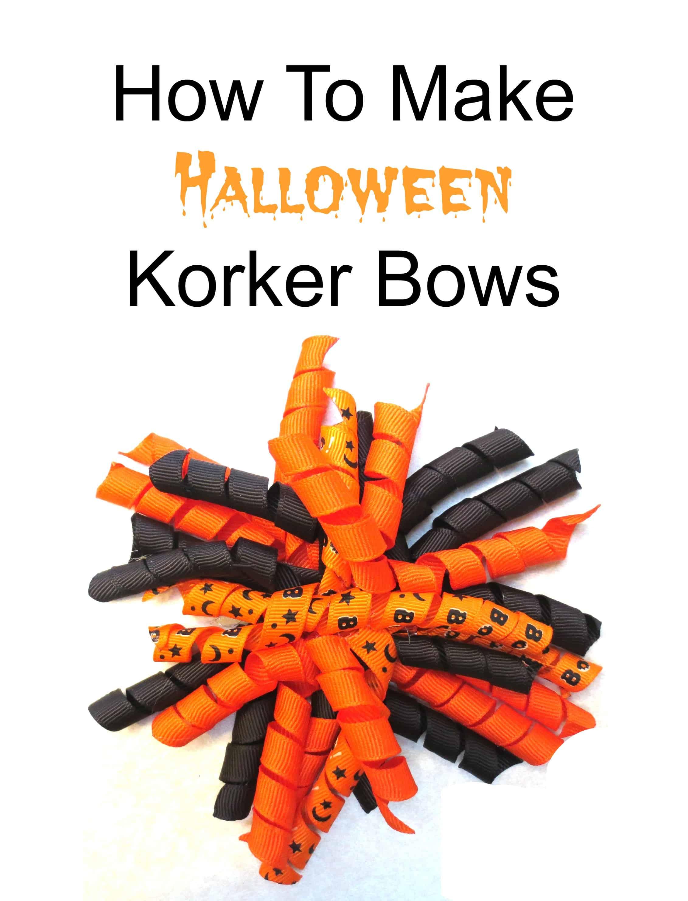 korker, bow, hair, diy, halloween