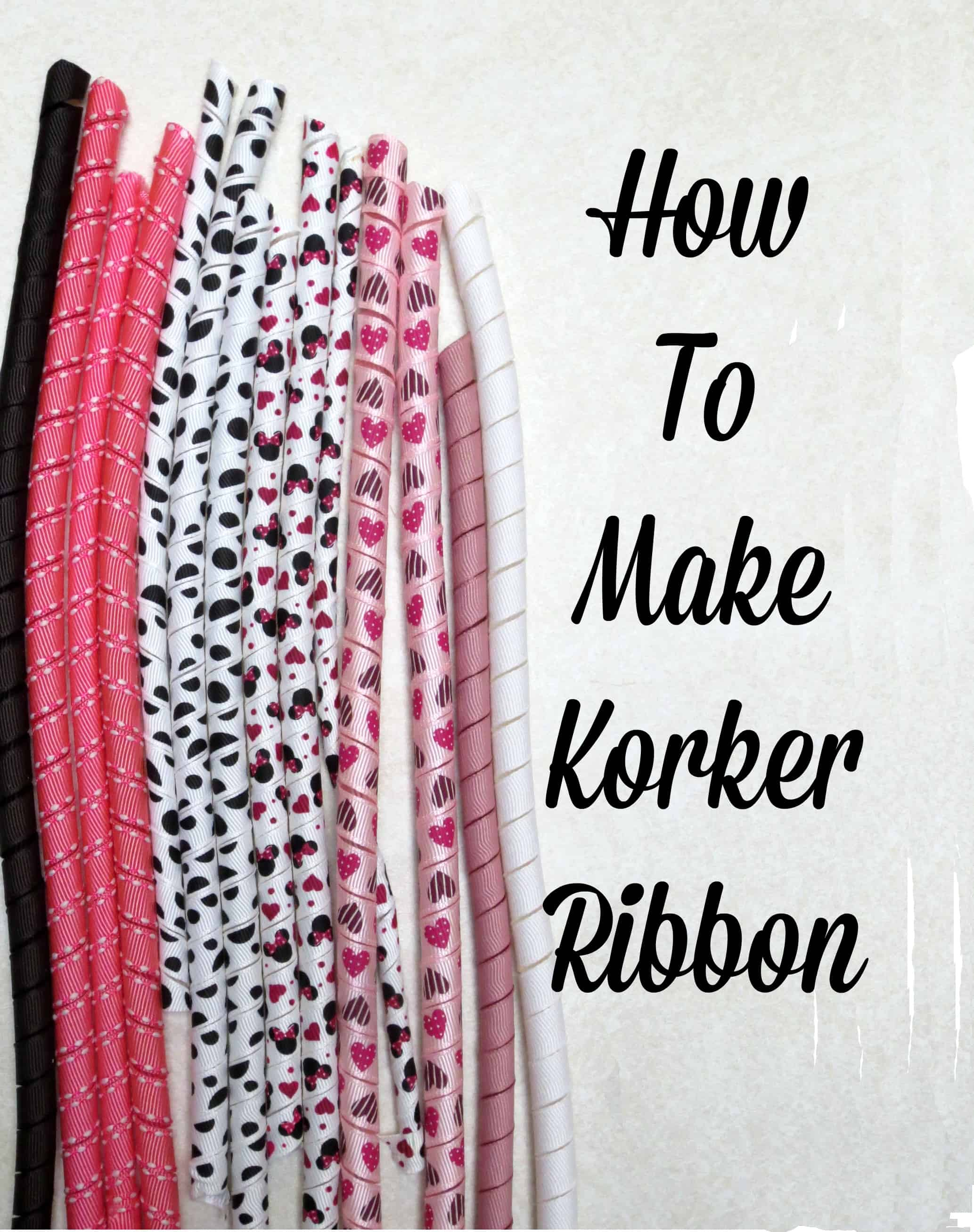 Korker ribbon, how to, tutorial, bow