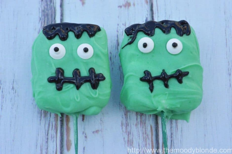 Adorable Franken-Mallow Halloween treats