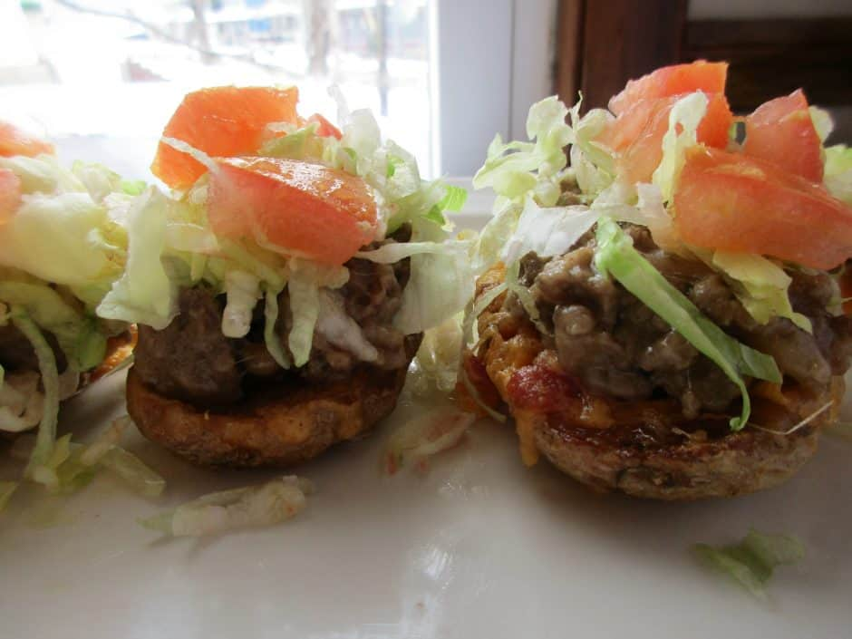 Easy Farm Rich ch cheeseburger potato skins game day super bowl recipe 5