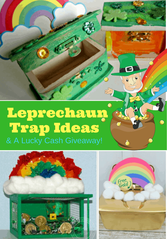 Leprechaun trap ideas and lucky cash giveaway