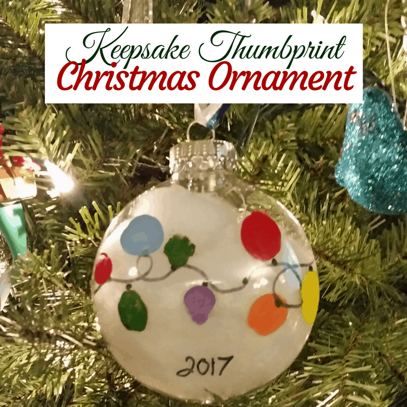 Easy Keepsake Thumbprint Christmas Ornament