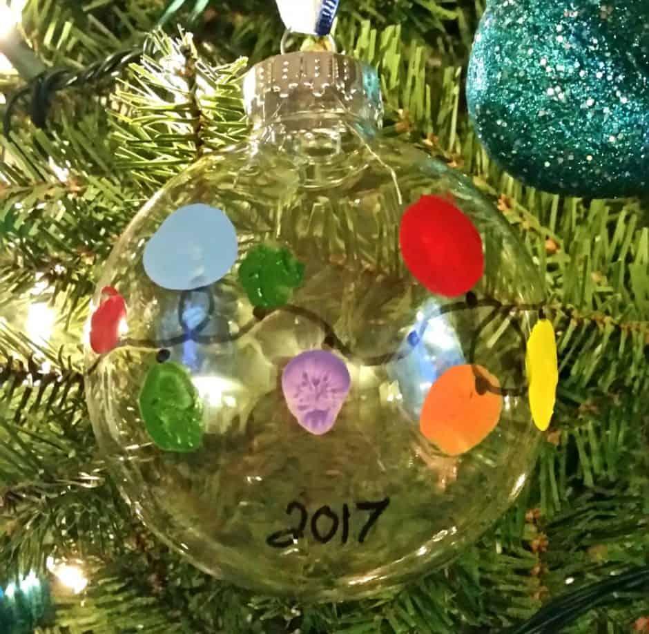 keepsake thumbprint christmas bulb ornament 5
