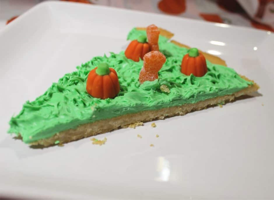 zombie pumpkin patch cookie pizza slice