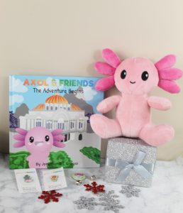 Axol & Friends Plush stuffed animal and book